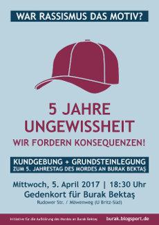 Plakat zum 5. April 2017 als kleine JPG