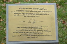 Gedenkort-Tafel am 5. November 2017 eingeweiht